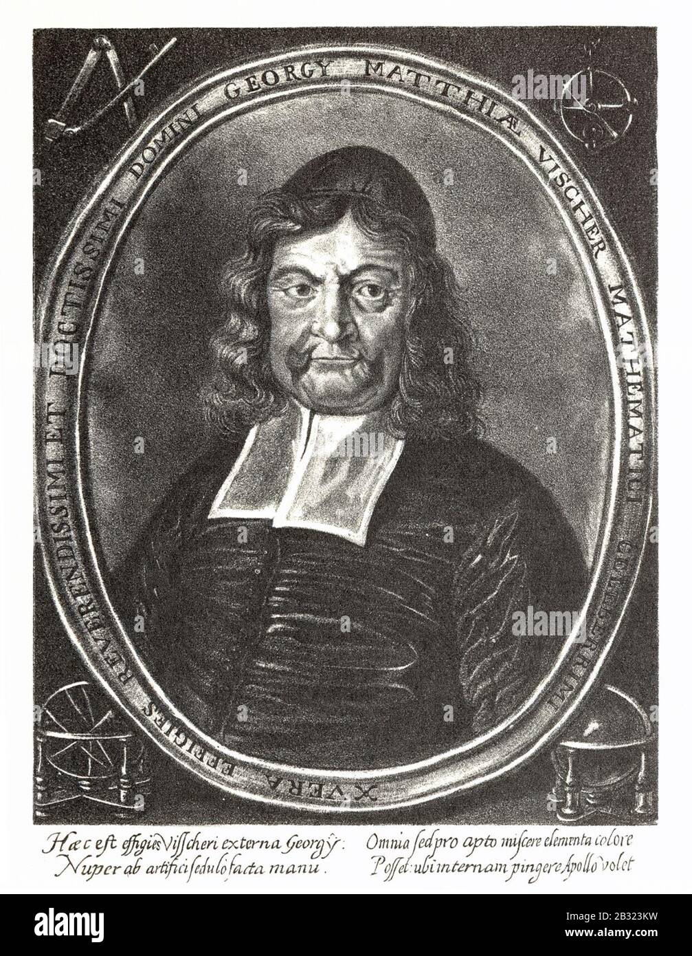 Georg Matthäus Vischer - Portrait 1684. Stock Photo