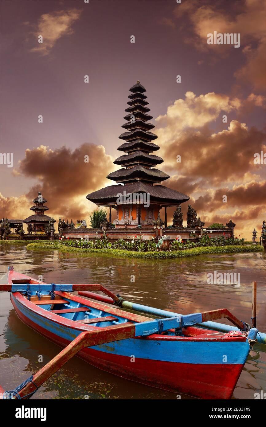 Temple Ulun Danu Bratan In Beratan Lake At Bedugul Bali Indonesia