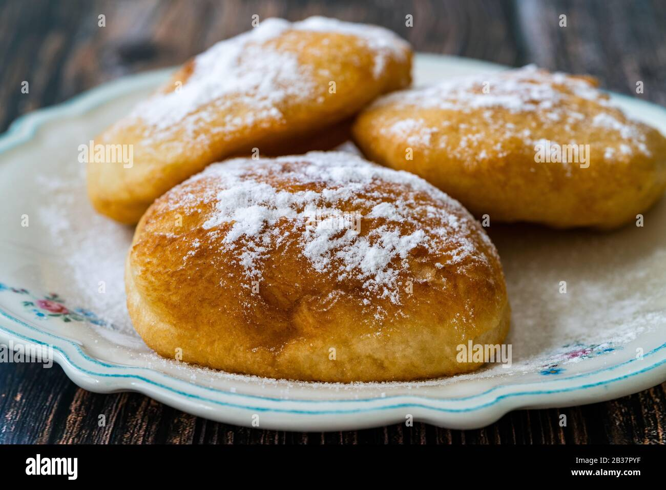 Mandazi Is A Slightly Sweet East African Street Food Spicy Airy Yeast Doughnut Dough Made With Coconut Milk Flavored With Cardamom And Grated Fresh Stock Photo Alamy
