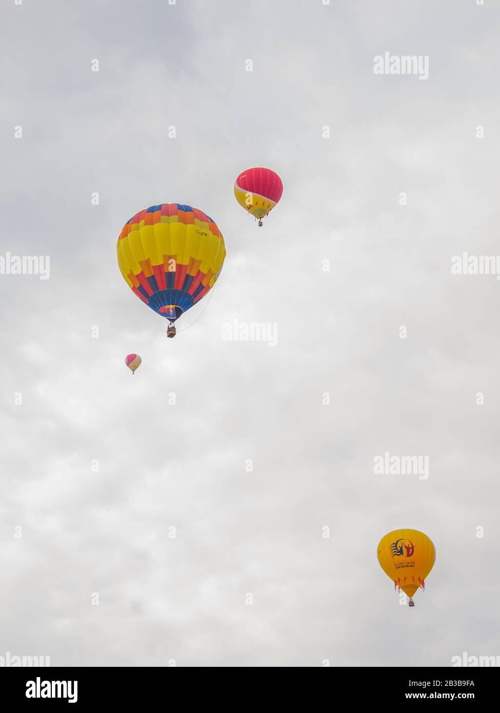 Saint-Jean-sur-Richelieu, Canada - August 18 2019: International Montgolfière Ballon festival in Saint-Jean in Canada Stock Photo