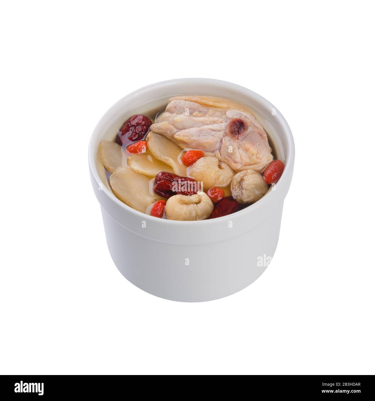 herb soup or chinese chicken herb soup new Stock Photo