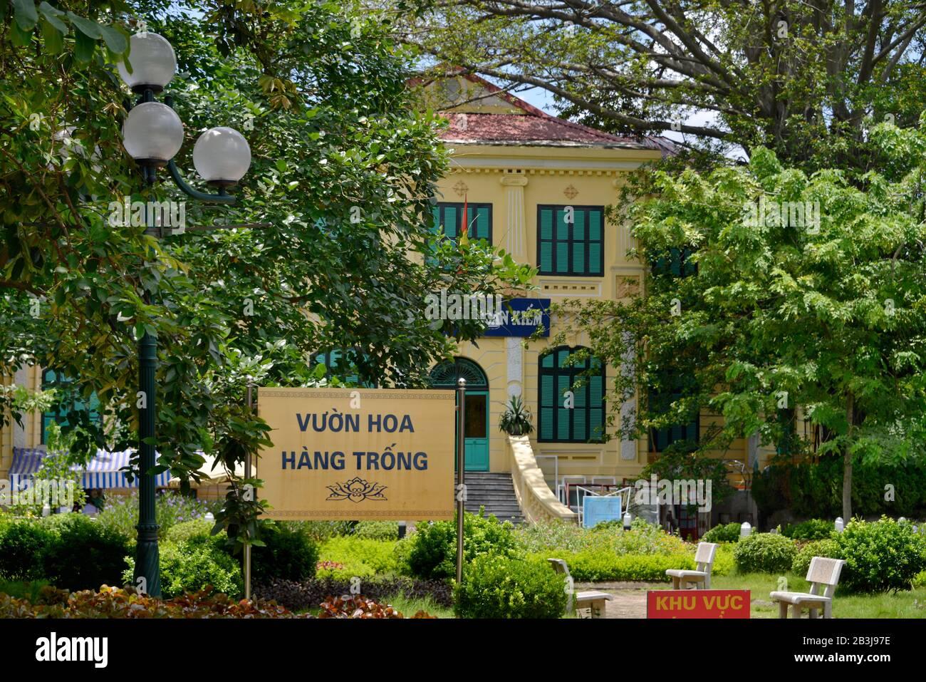 Hang Trong Blumengarten, Nha Chung, Hanoi, Vietnam Stock Photo