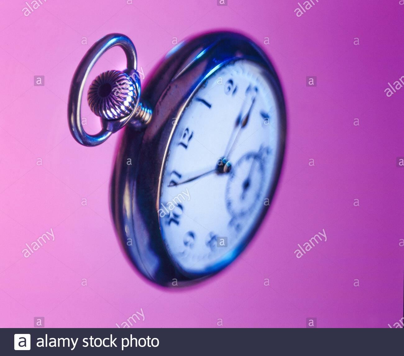 Old pocket watch, artist's impression Stock Photo