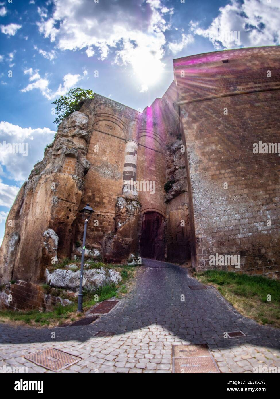 Italy, Umbria, Orvieto, Albornoz fortress, now public garden Stock Photo