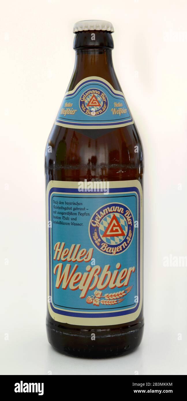 Flasche Helles Weissbier Geismann Stock Photo