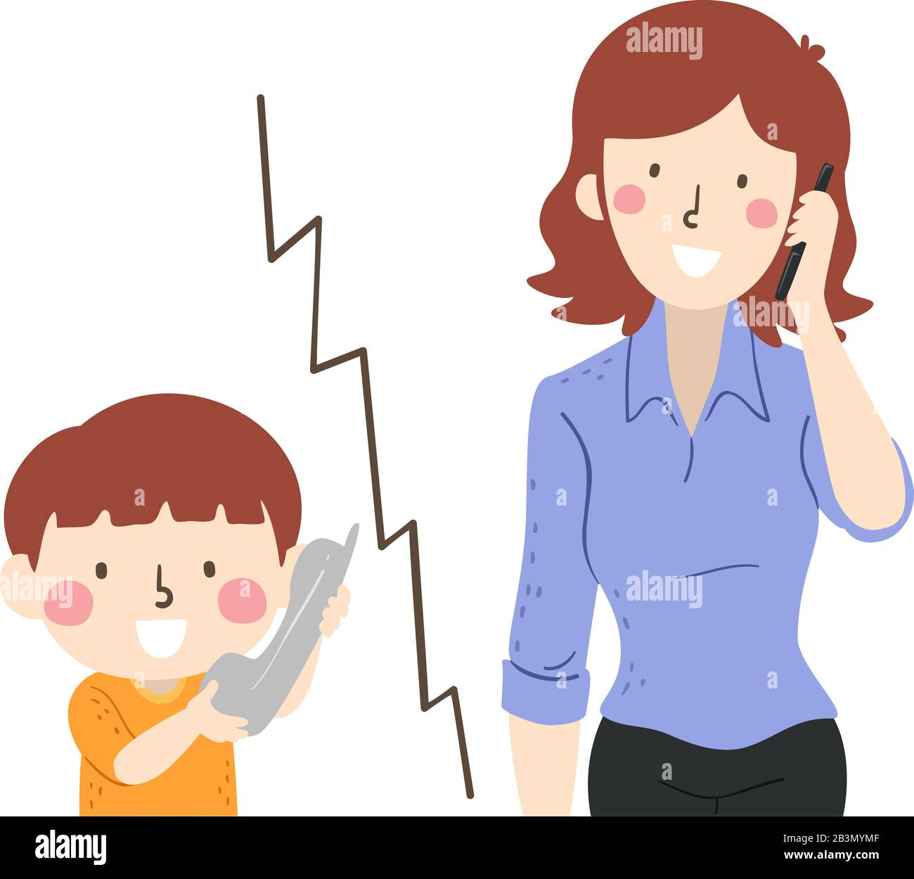 Mom Is Talking To Her Son. Concept Of Parent Support. Vector.. Royalty Free  Cliparts, Vectors, And Stock Illustration. Image 121724992.