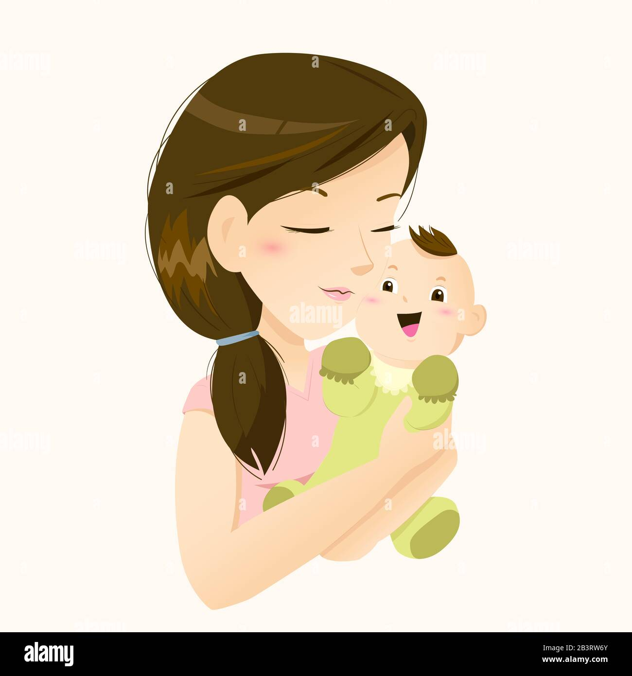 Beautiful Mother Holding Her Little Baby With Love Stock Vector Image Art Alamy
