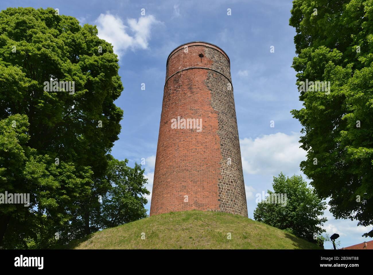 Bergfried, Burg Eisenhardt, Bad Belzig, Brandenburg, Deutschland Stock Photo