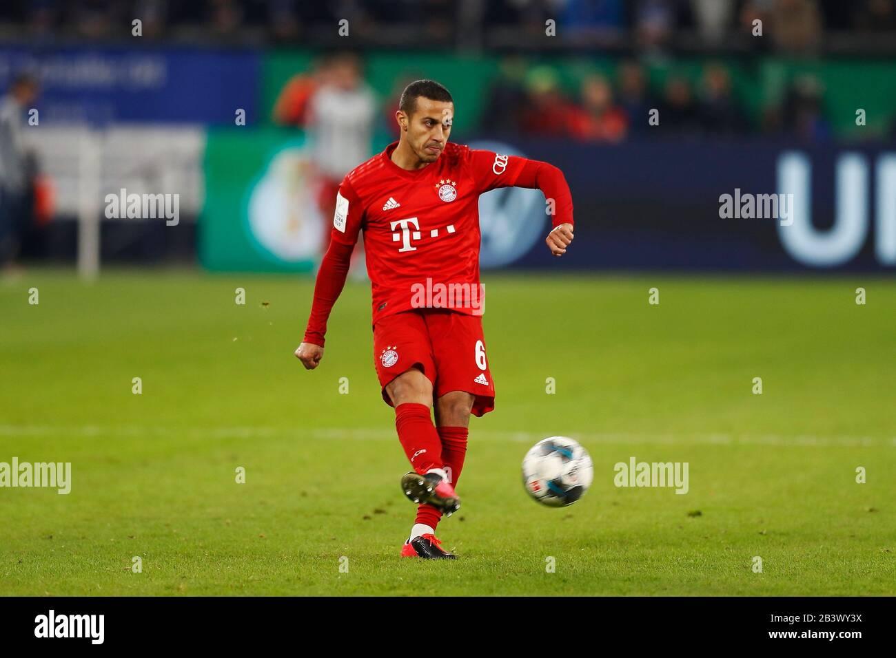 Gelsenkirchen Germany 3rd Mar 2020 Thiago Alcantara Bayern Football Soccer Germany Dfb Pokal Quarter Finals Match