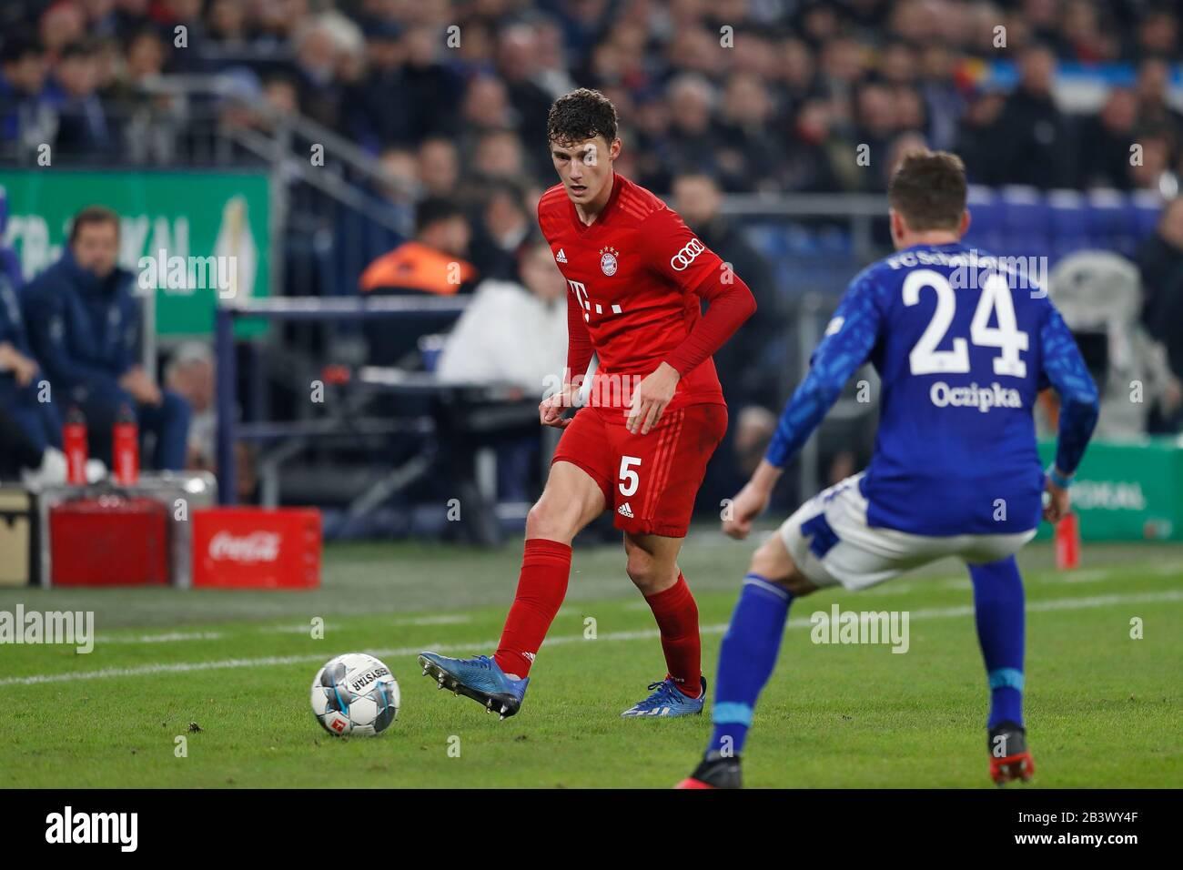 Gelsenkirchen Germany 3rd Mar 2020 Benjamin Pavard Bayern Football Soccer Germany Dfb Pokal Quarter Finals Match