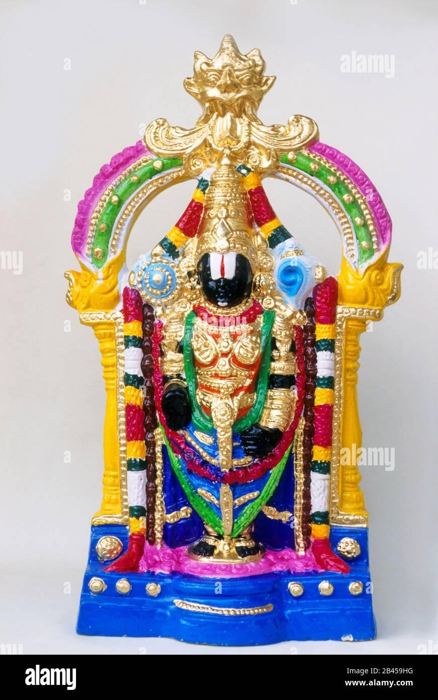 Idol Of Lord Balaji India Asia Stock Photo Alamy