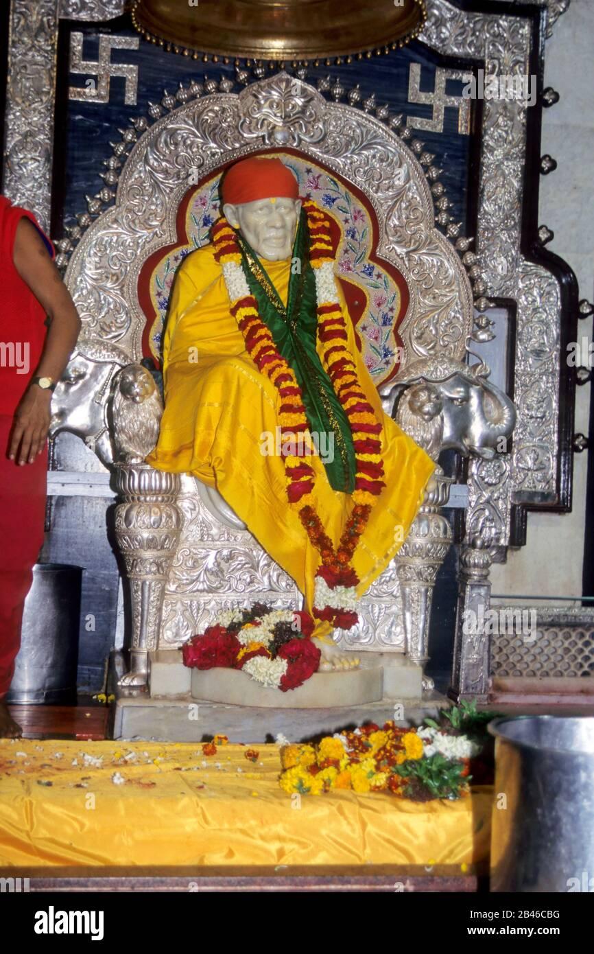 Statue Of Lord Sai Baba Shirdi Nashik Maharashtra India Asia Stock Photo Alamy