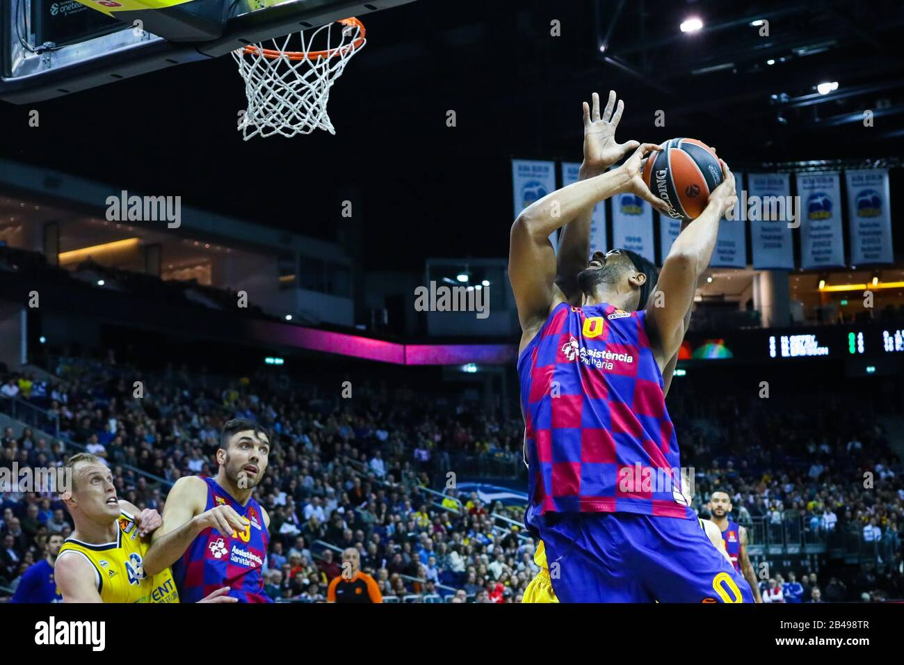Berlin, Germany, March 04, 2020:Brandon Davies of FC Barcelona in action during the EuroLeague basketball match between Alba Berlin and FC Barcelona Stock Photo