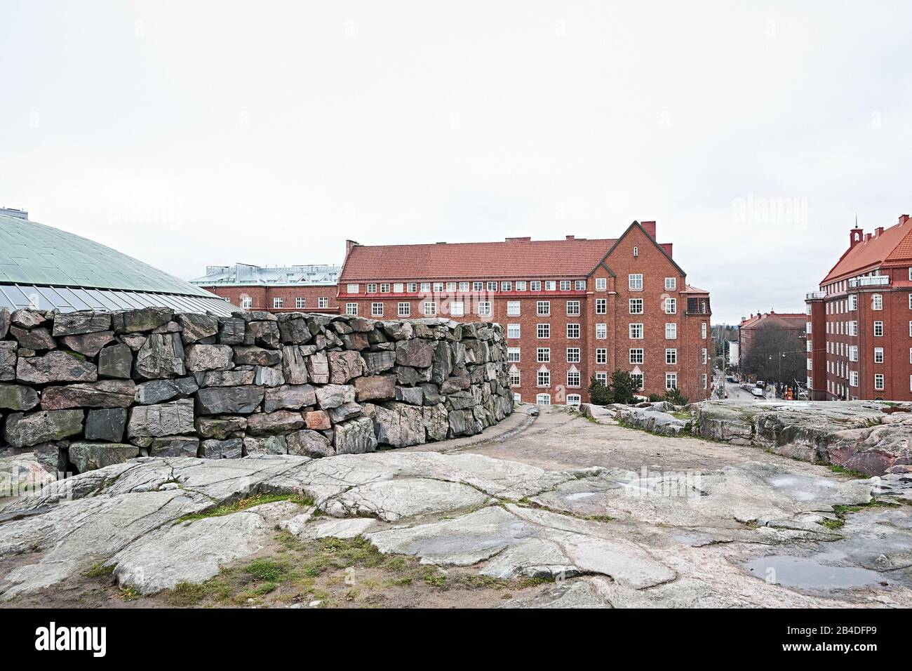 Exterior shot of the Temppeliaukio church in Helsinki, Finland Stock Photo