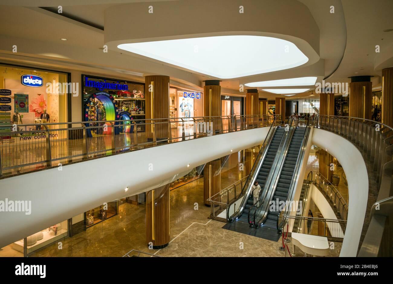 Azerbaijan Baku Port Baku Mall Interior Stock Photo Alamy