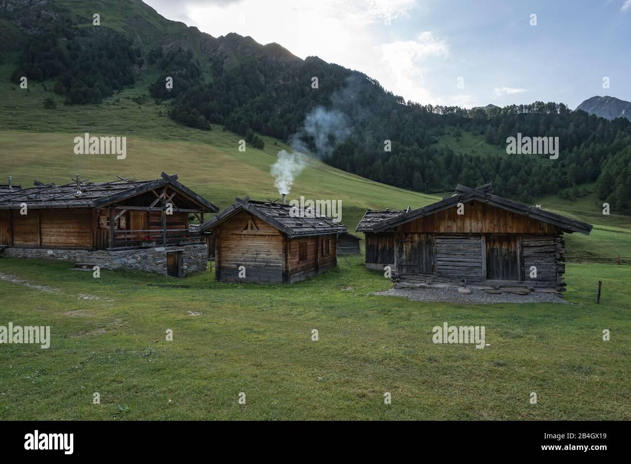 Fane Alm, Almdorf, South Tyrol, Italy, Europe Stock Photo