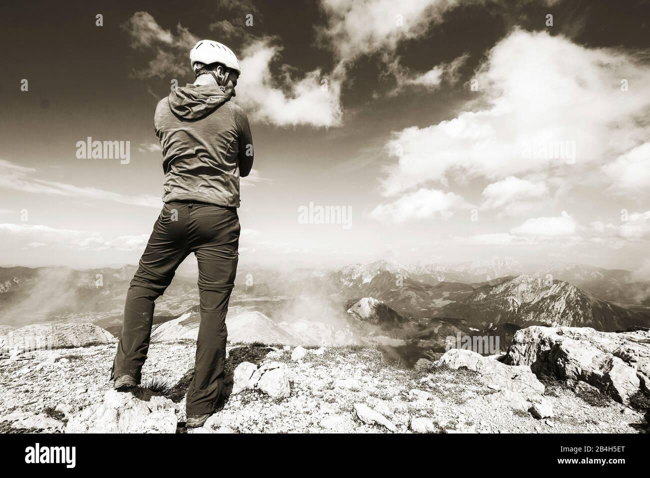 Warscheneck in the dead mountains Stock Photo