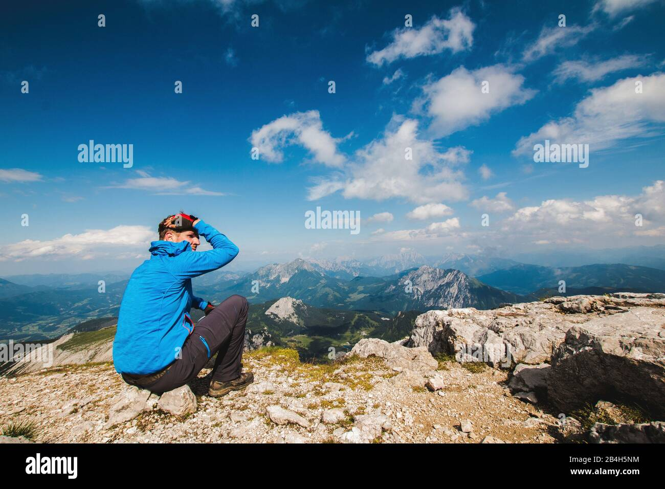 Warscheneck in the dead mountains Stock Photo