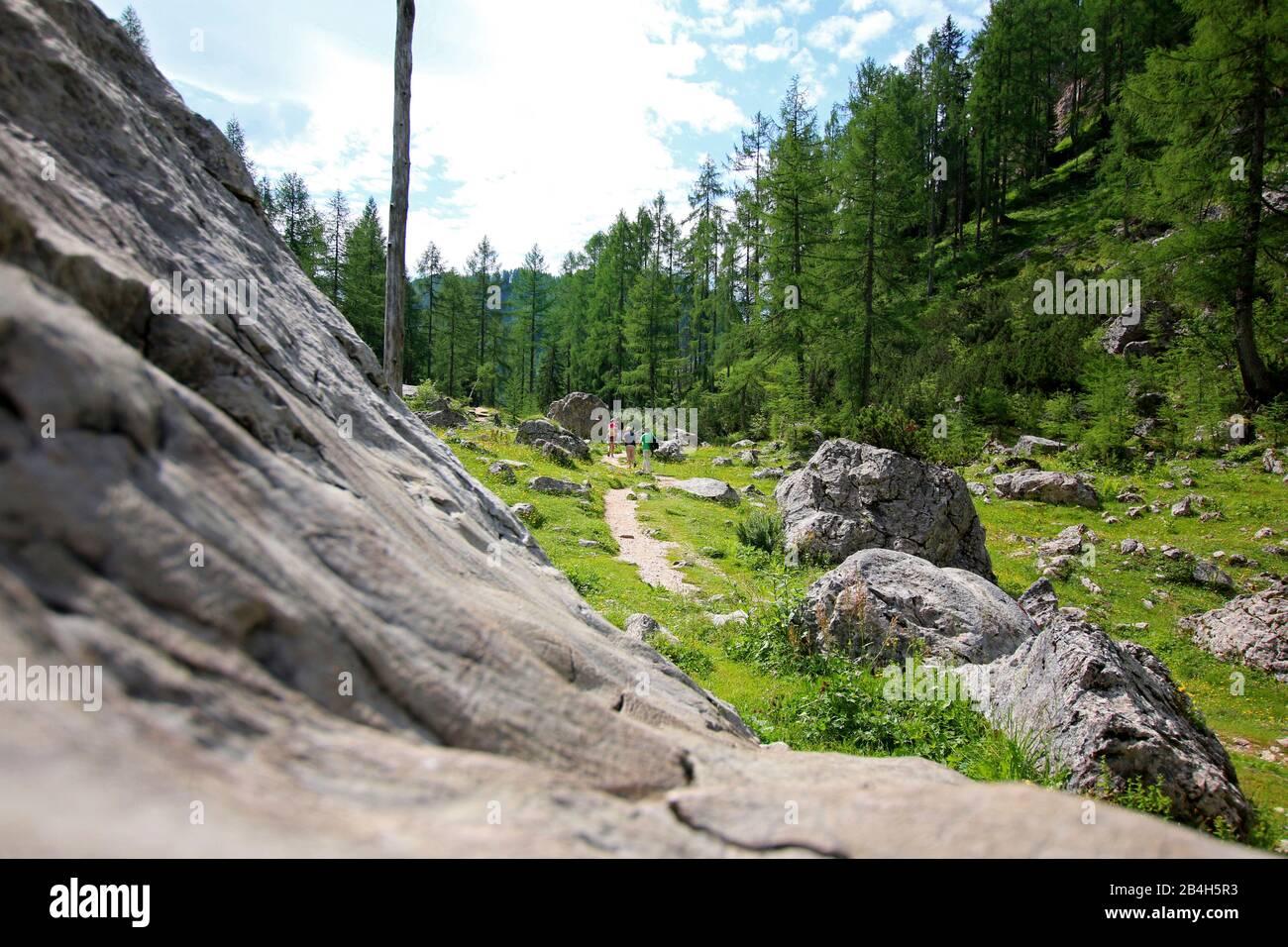 Hike to Wurzeralm, Totes Gebirge, Austria Stock Photo
