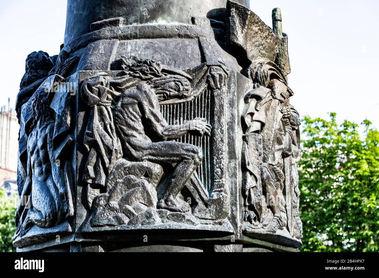 Detail an dem von Antoine Bourdelle geformten Denkmal des polnischen Dichters Adam Mickiewicz, Paris, Frankreich, Europa Stock Photo