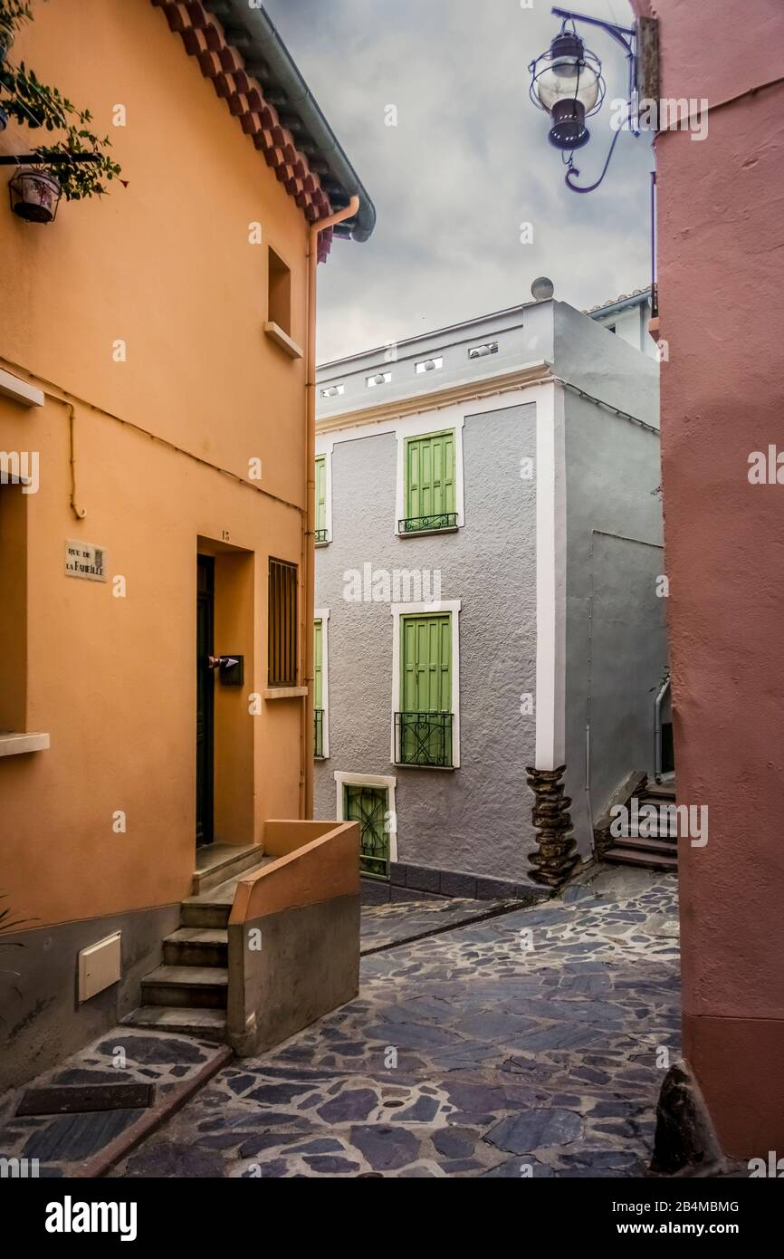 Dorfkern von Collioure Stock Photo