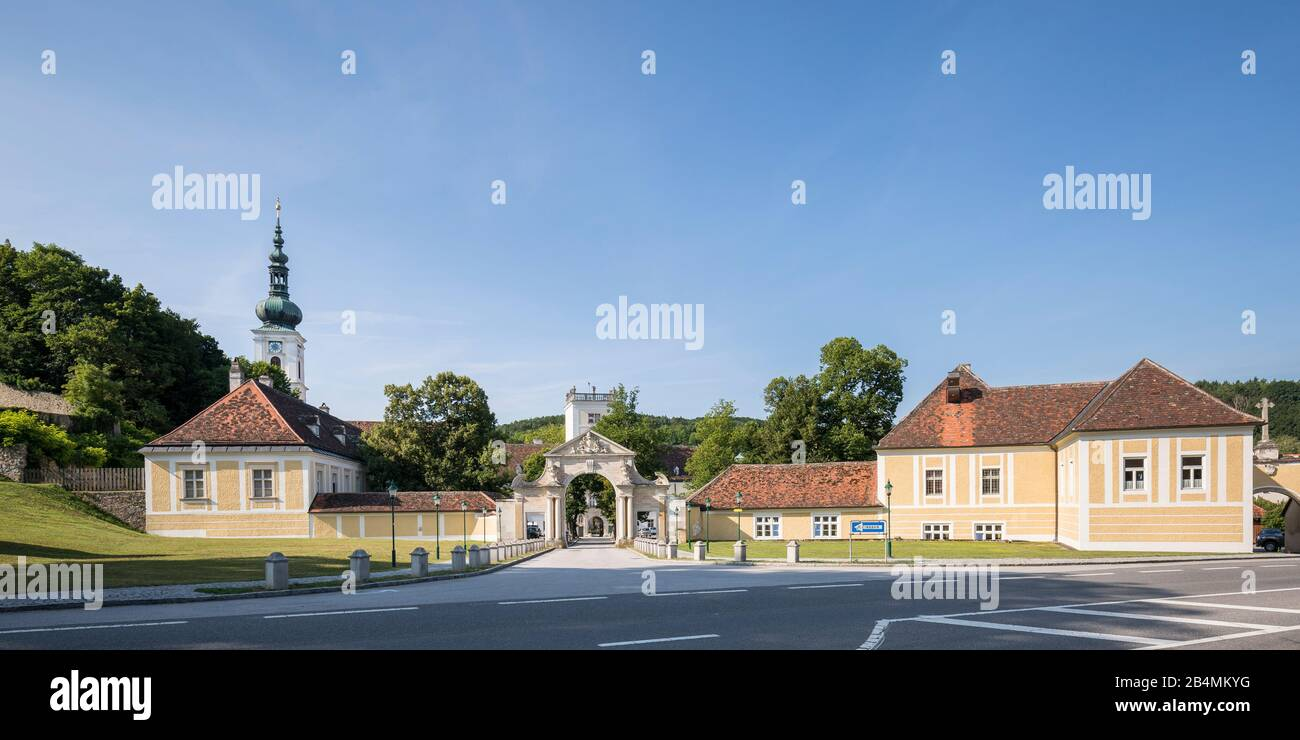 Heiligenkreuz Abbey, Cistercian Monastery, Heiligenkreuz in the Vienna Woods, Lower Austria, Austria, Europe Stock Photo