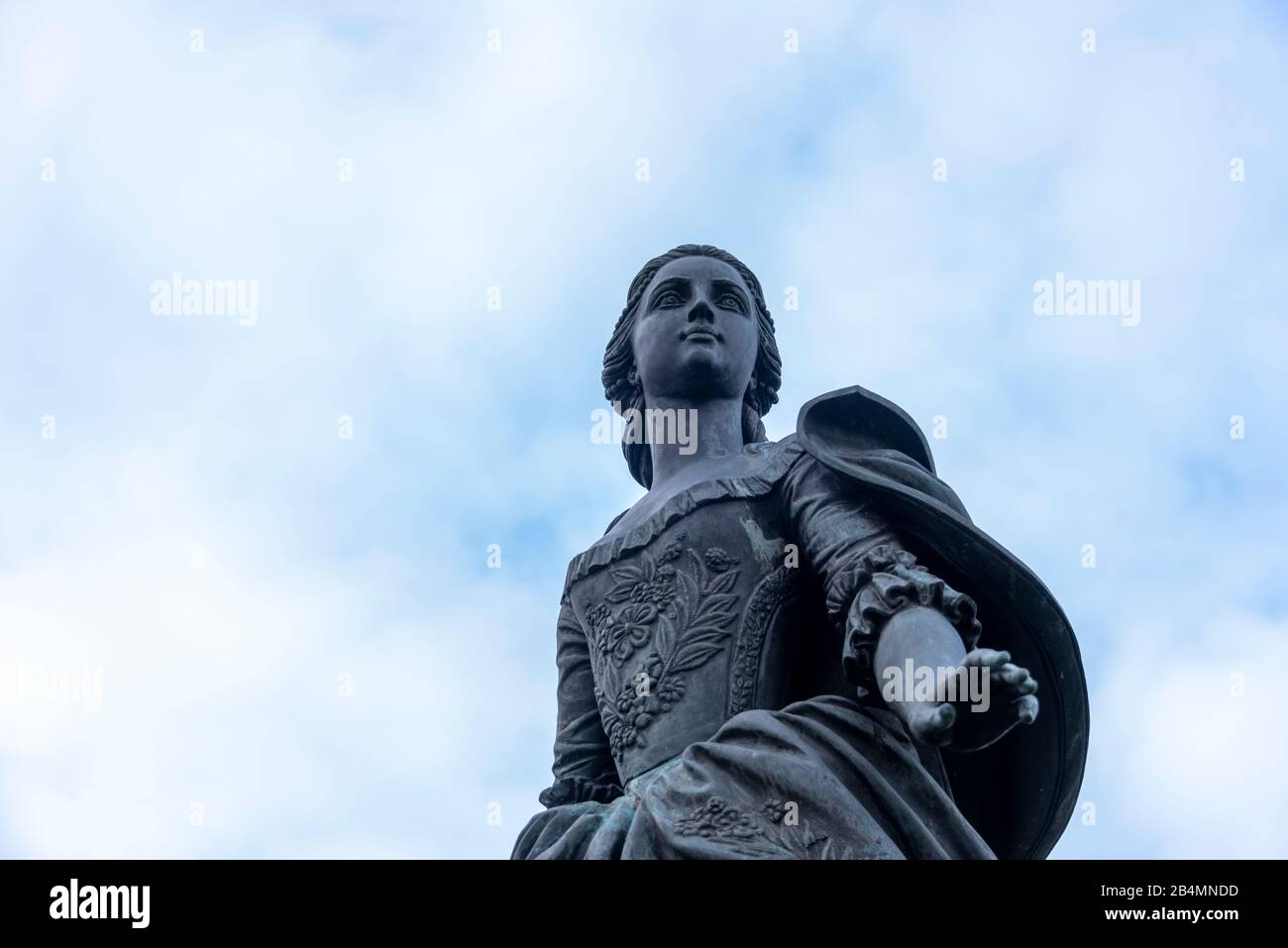 Germany, Saxony-Anhalt, Zerbst, view of the monument to Princess Sophie Auguste Friederike von Anhalt-Zerbst. She later became Tsarina Catherine II of Russia and went down in history as Catherine the Great. She lived in Zerbster Castle from 1742 to early 1744. Stock Photo