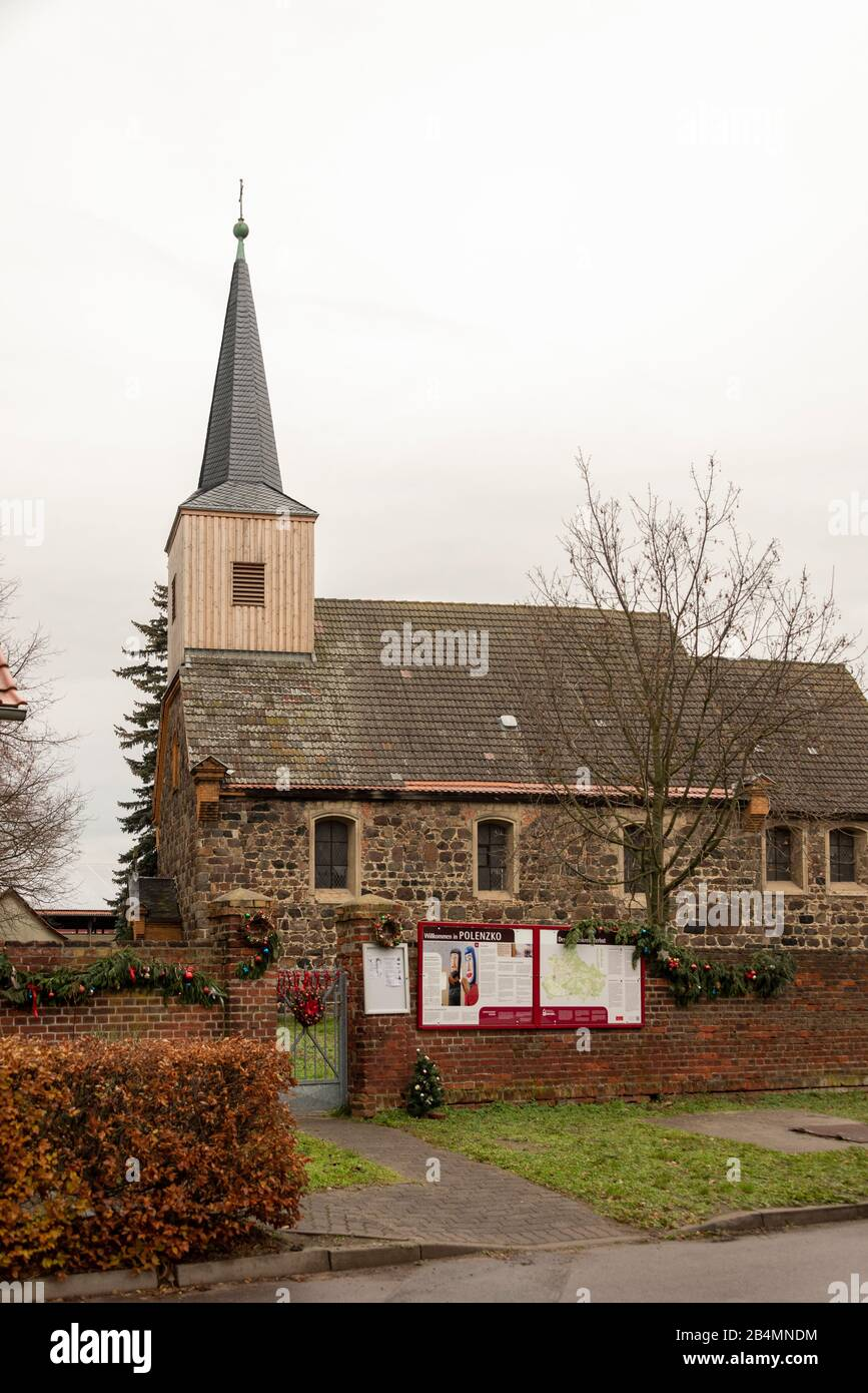 Germany, Saxony-Anhalt, Zerbst, view of the Christmas church of Polenzko. Stock Photo