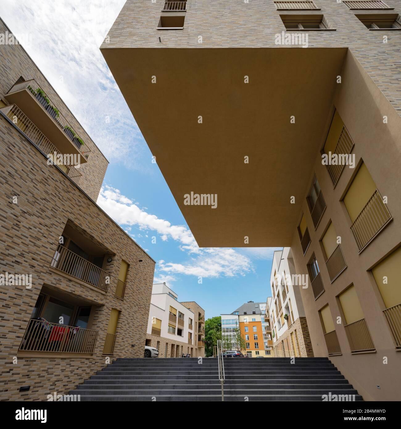 Germany, Saxony, Leipzig, modern residential district, gentrification, Plagwitz district Stock Photo