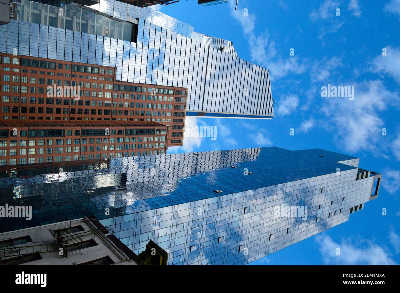 Neo Futuristic 30 Hudson Yards skyscraper designed by Architect Kohn Pedersen Fox features tallest open observation deck in NYC Stock Photo