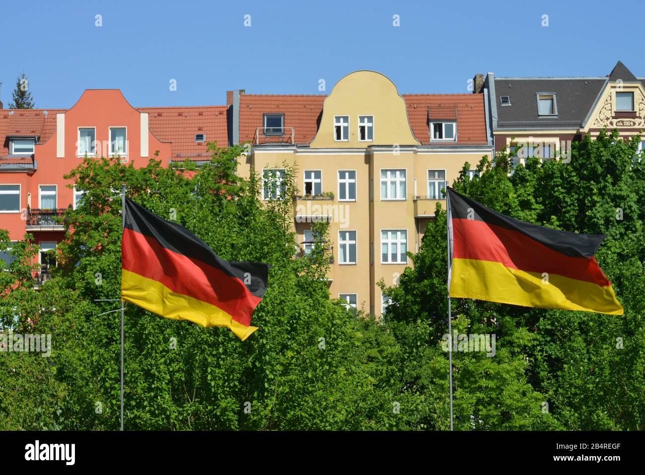 Altbauten, Alsenstrasse, Steglitz, Berlin, Deutschland Stock Photo
