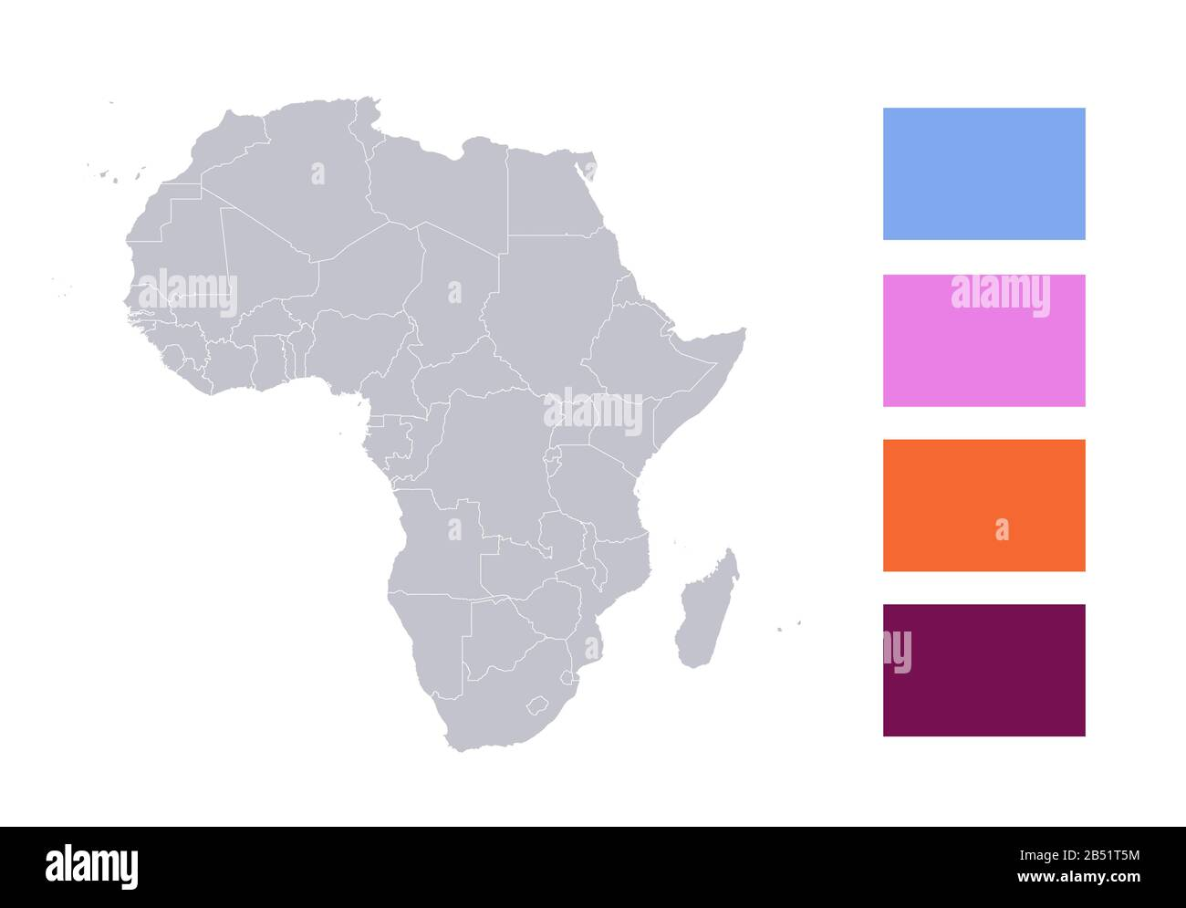 Picture of: Infographics Of Africa Map Individual States Blank Stock Photo Alamy