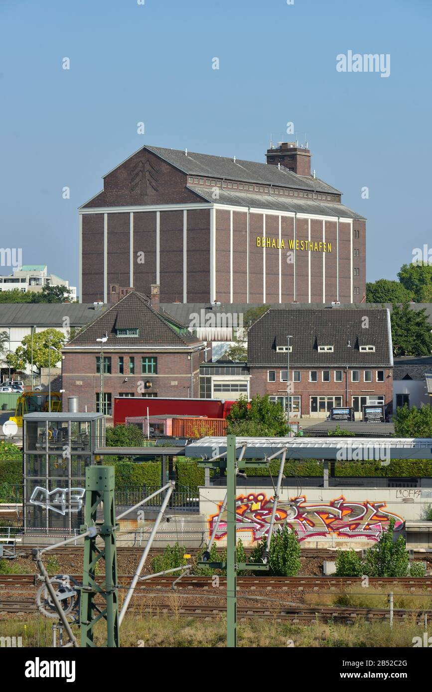 Lagerhaus, Westhafen, Moabit, Berlin, Deutschland Stock Photo