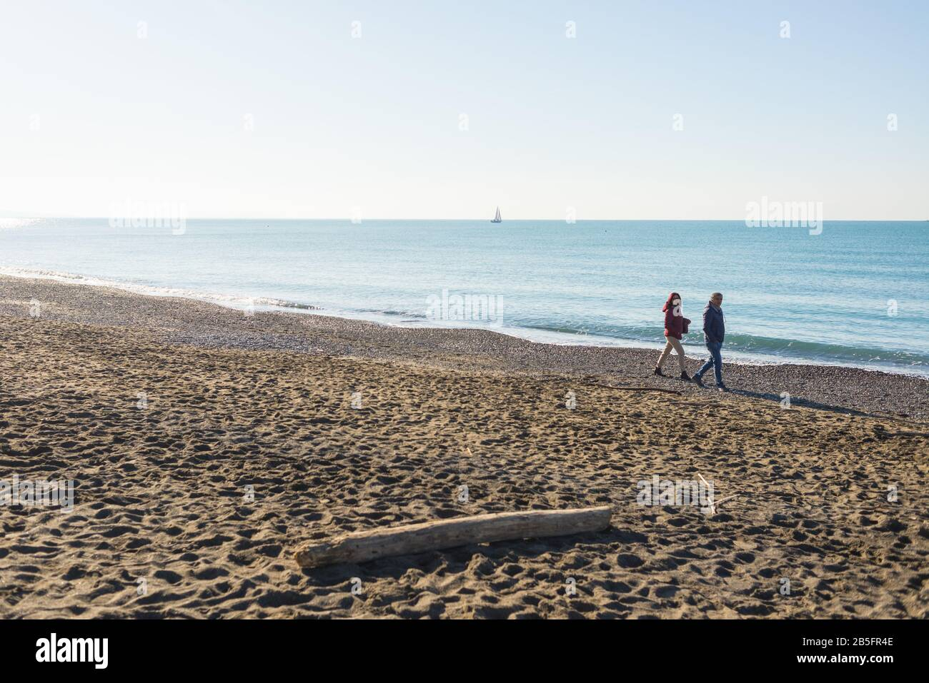 Cecina, Tuscany, Italy   January 20 Winter seaside scene in ...