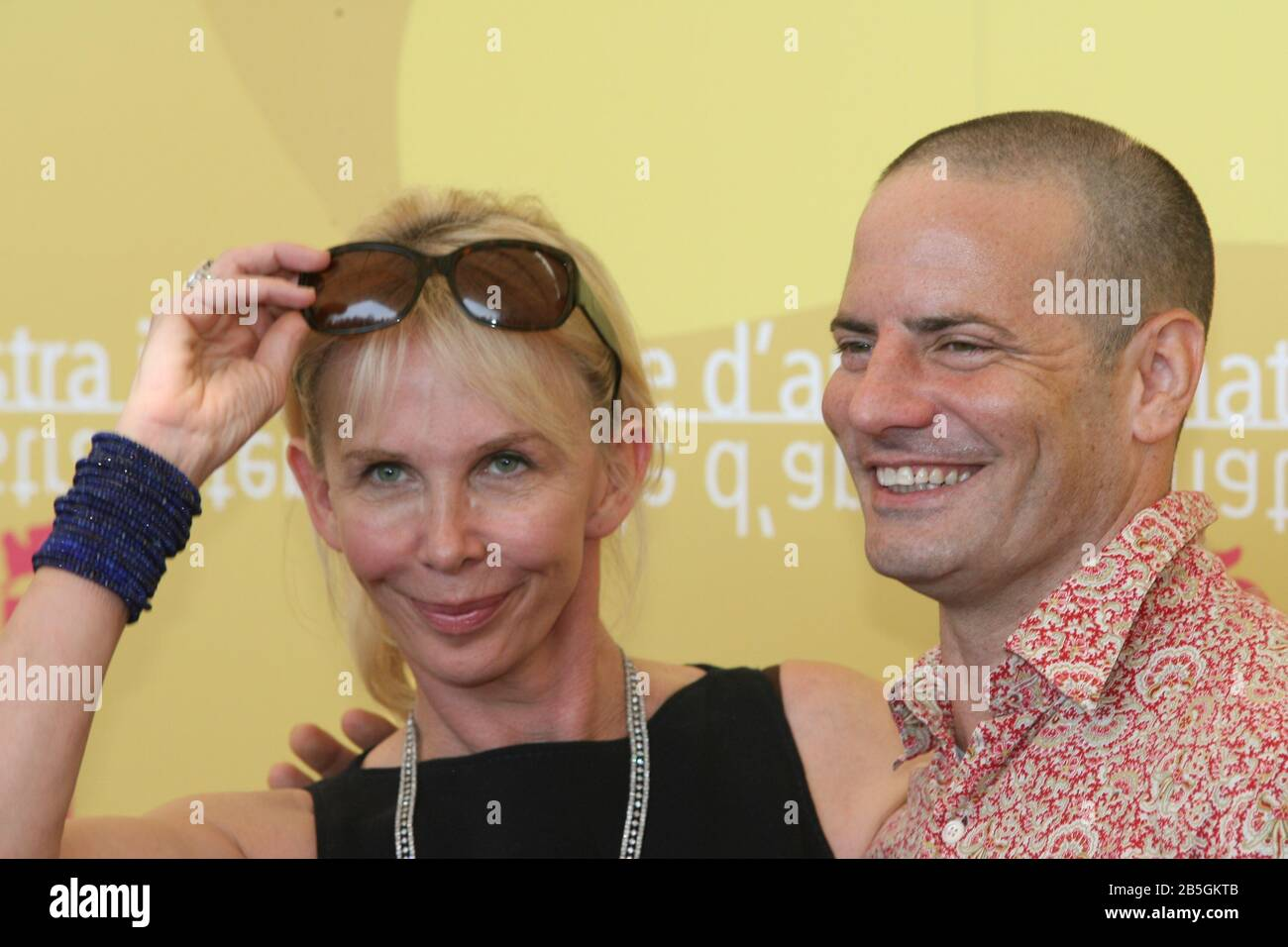"""Venice, 03/09/2006. 63rd Venice Film Festival. Trudie Styler and Dito Montiel attending the photocall for the film """"A Guide to Recognize your Saints"""" Stock Photo"""