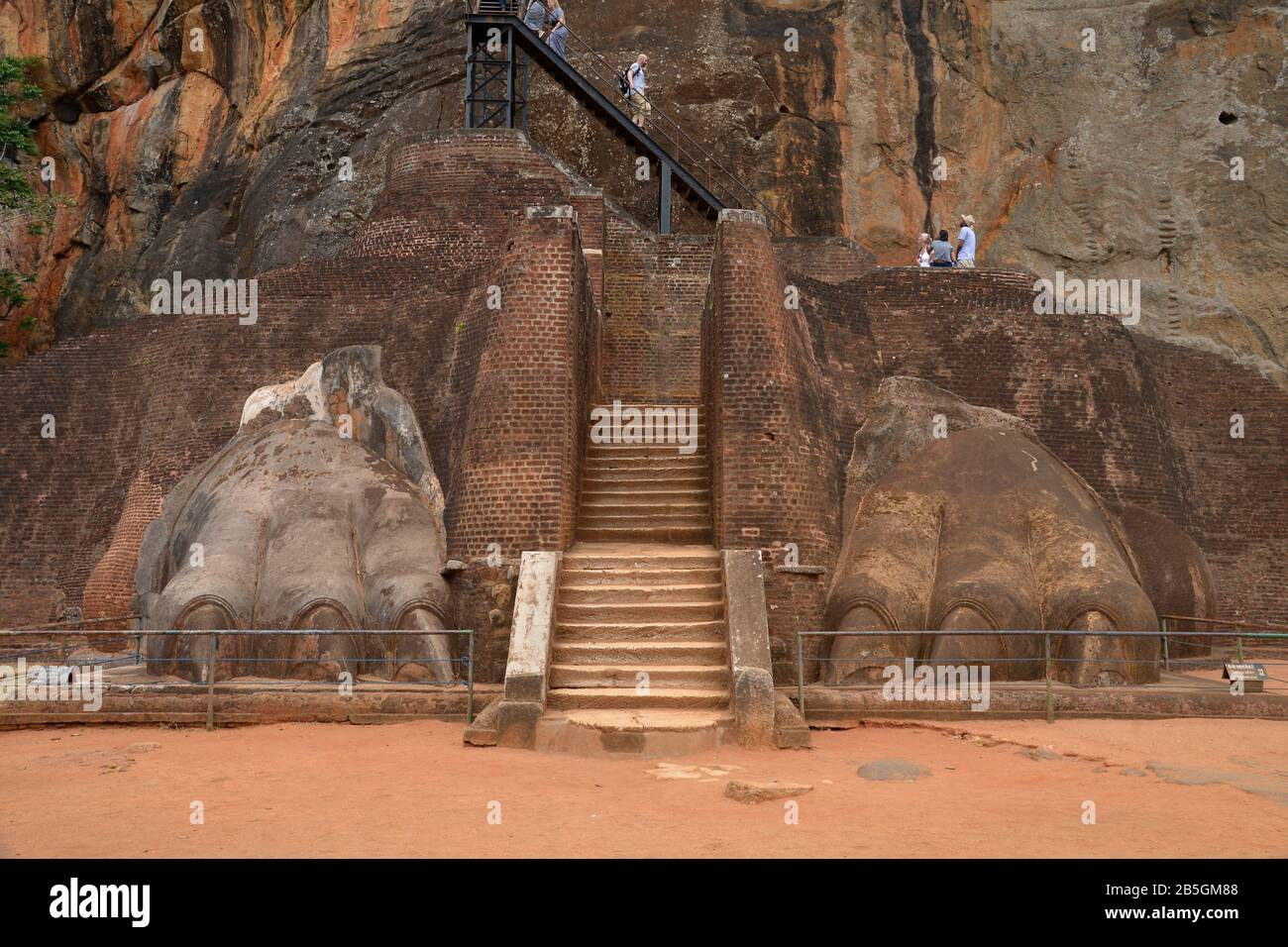 Treppe, Loewenfelsen, Sigiriya, Sri Lanka Stock Photo