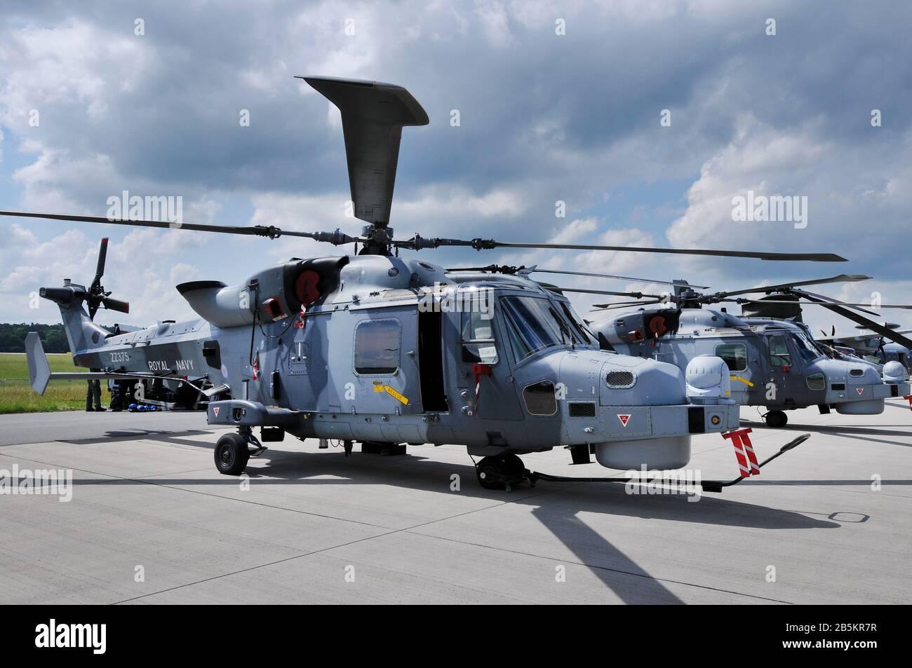 Hubschrauber, Augusta Westland Wildcat HMA2, Royal Navy, ILA, Berlin-Schoenefeld, Deutschland Stock Photo