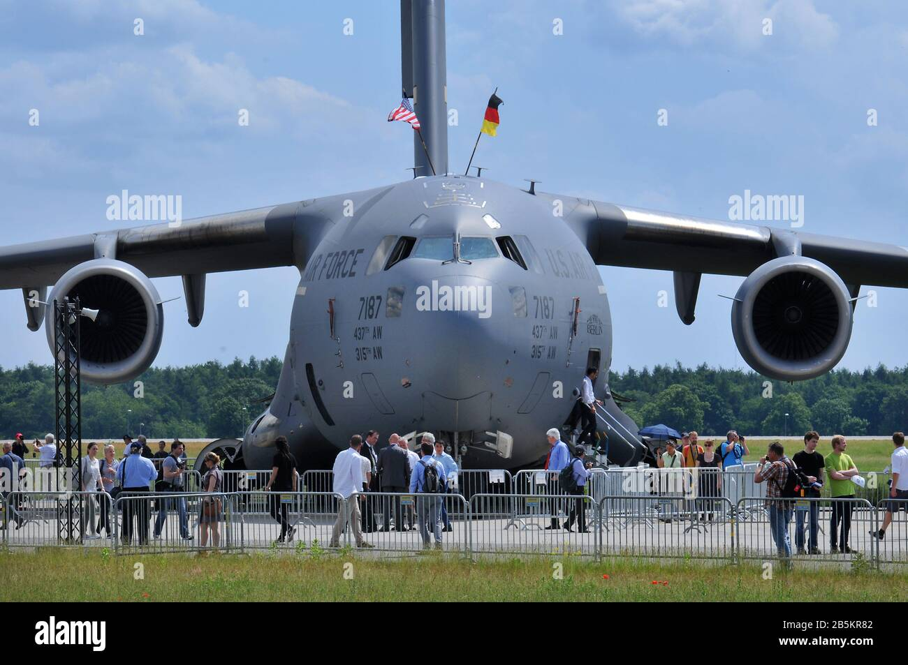 U.S. Air Force, 7187, Boeing C-17A Globemaster III, ILA, Berlin-Schoenefeld, Deutschland Stock Photo