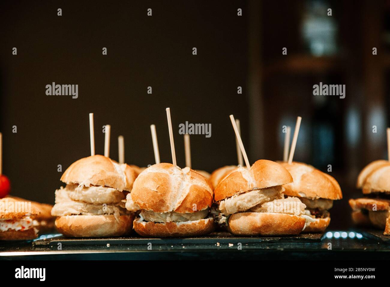 Mini Turkey Burgers stock photo Stock Photo