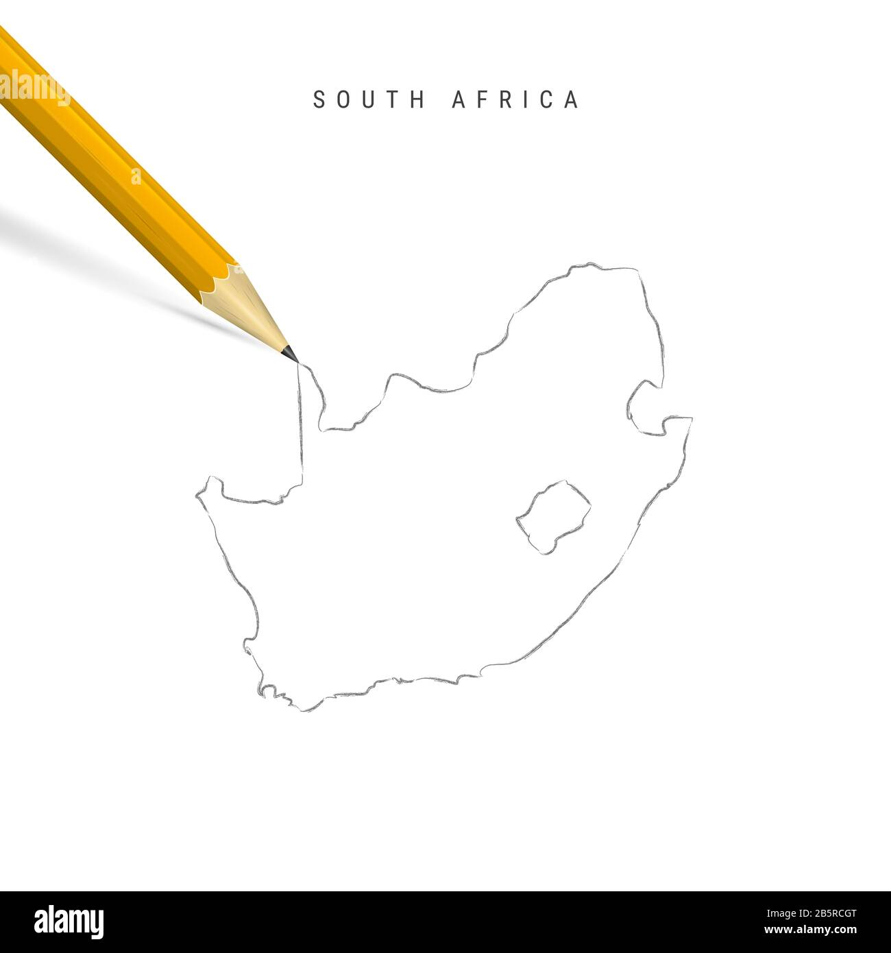 Image of: Sketch Map Of South Africa High Resolution Stock Photography And Images Alamy