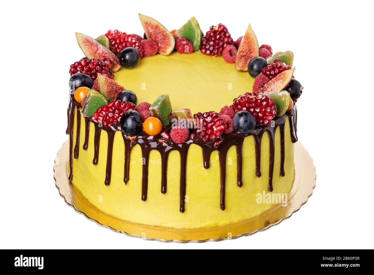 Remarkable Festive Fruit Cake Made From Sweet Ornaments On The Day Of Birth Personalised Birthday Cards Veneteletsinfo