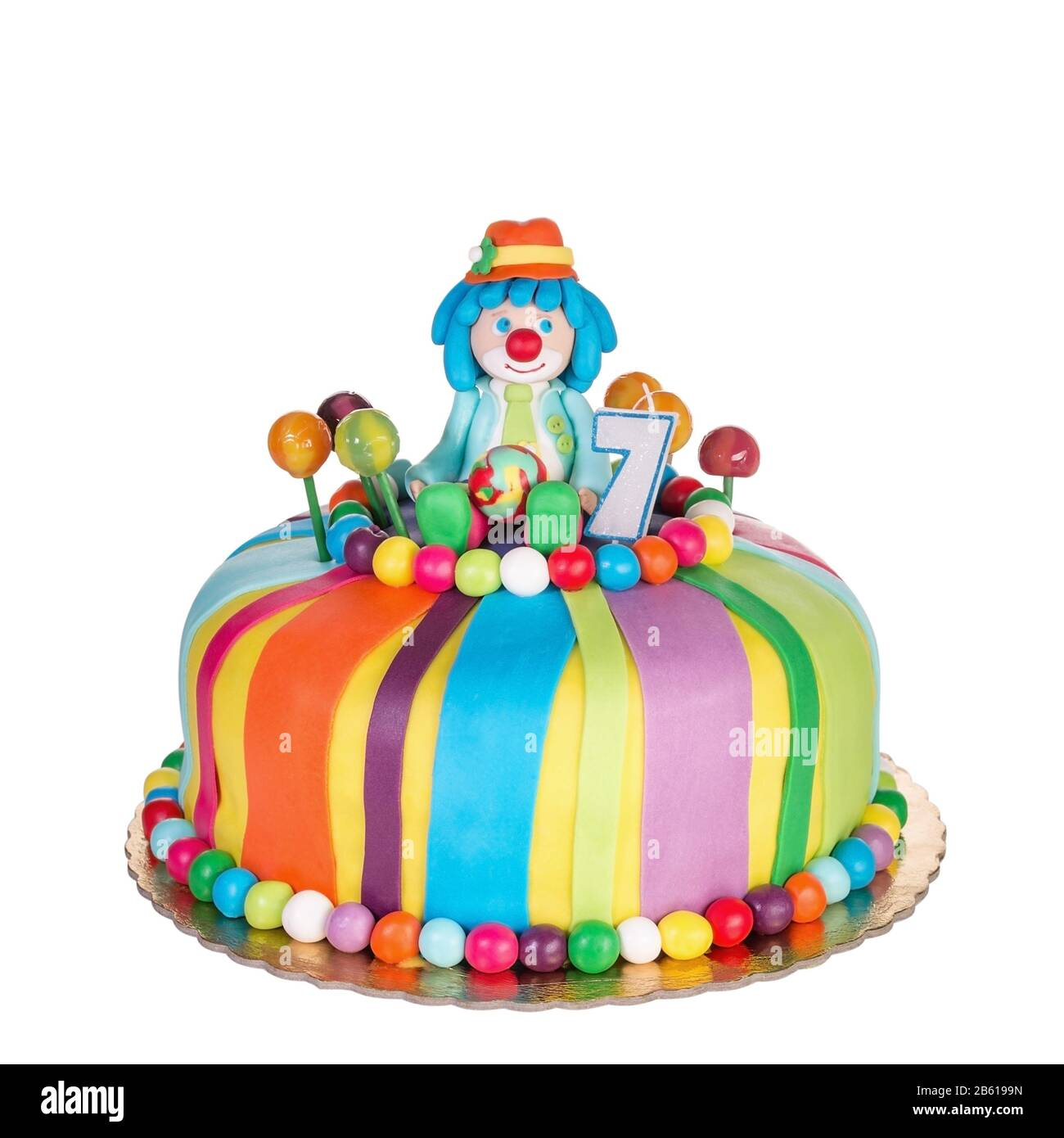 Astonishing Gorgeous Birthday Cake For Children With Colorful Sweets Stock Funny Birthday Cards Online Unhofree Goldxyz