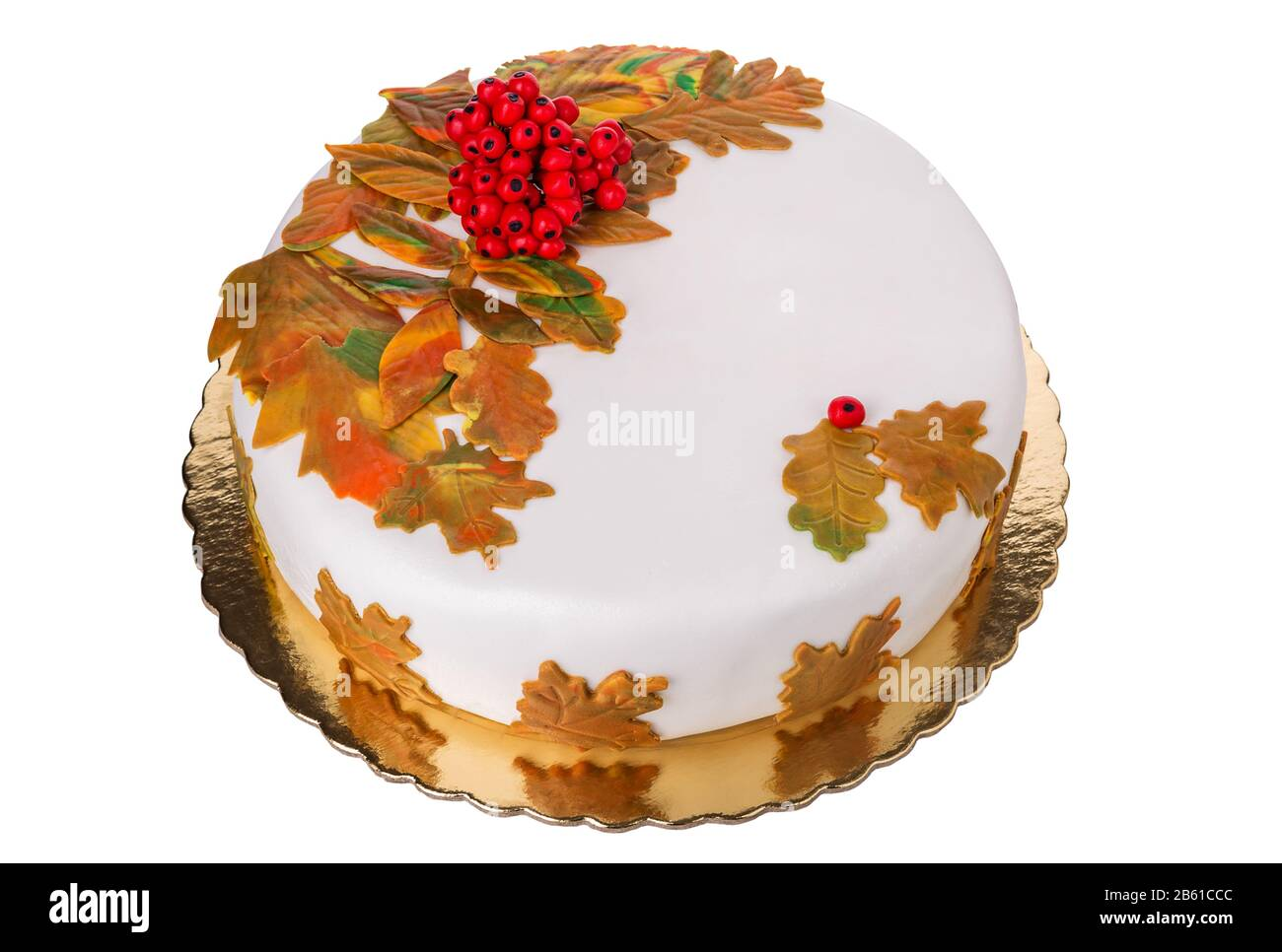Remarkable Autumn Birthday Cake Beautiful And Delicious Stock Photo Funny Birthday Cards Online Aboleapandamsfinfo