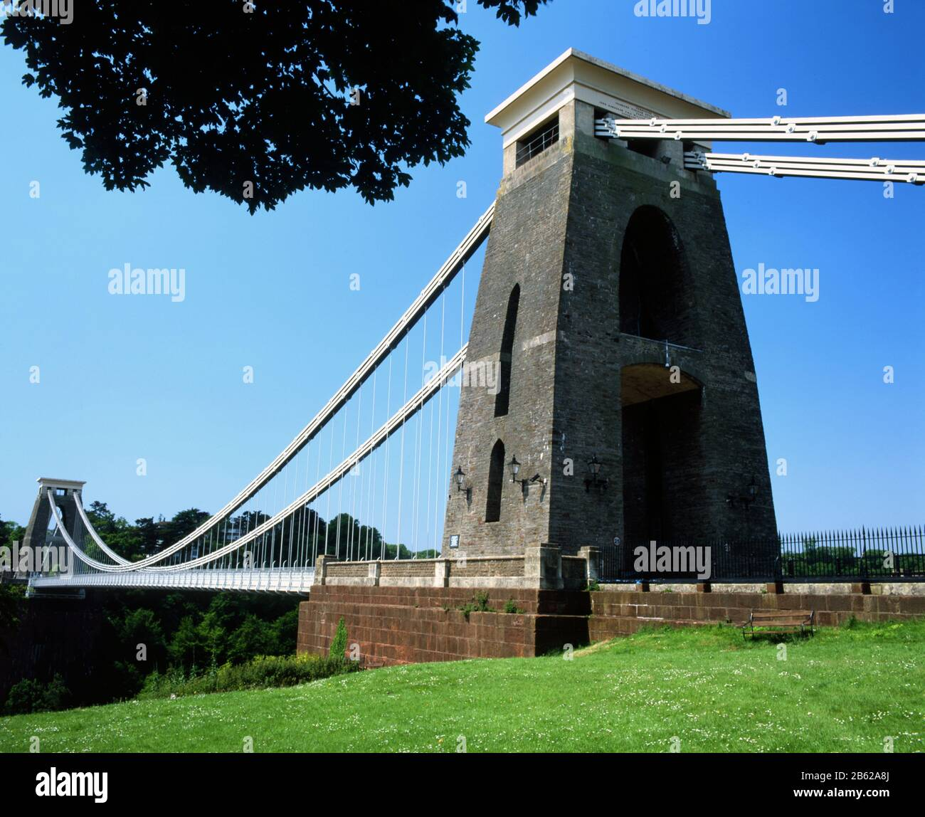 Clifton Suspnsion Bridge, desinged by Brunel. Clifton Downs, Bristol. Stock Photo