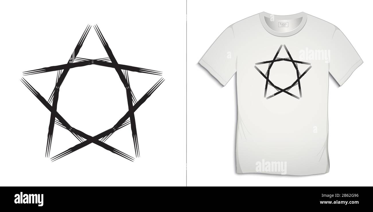 Print On T Shirt Icon Stars Painted Art Graphics Design Isolated On White Background Vector Stock Vector Image Art Alamy