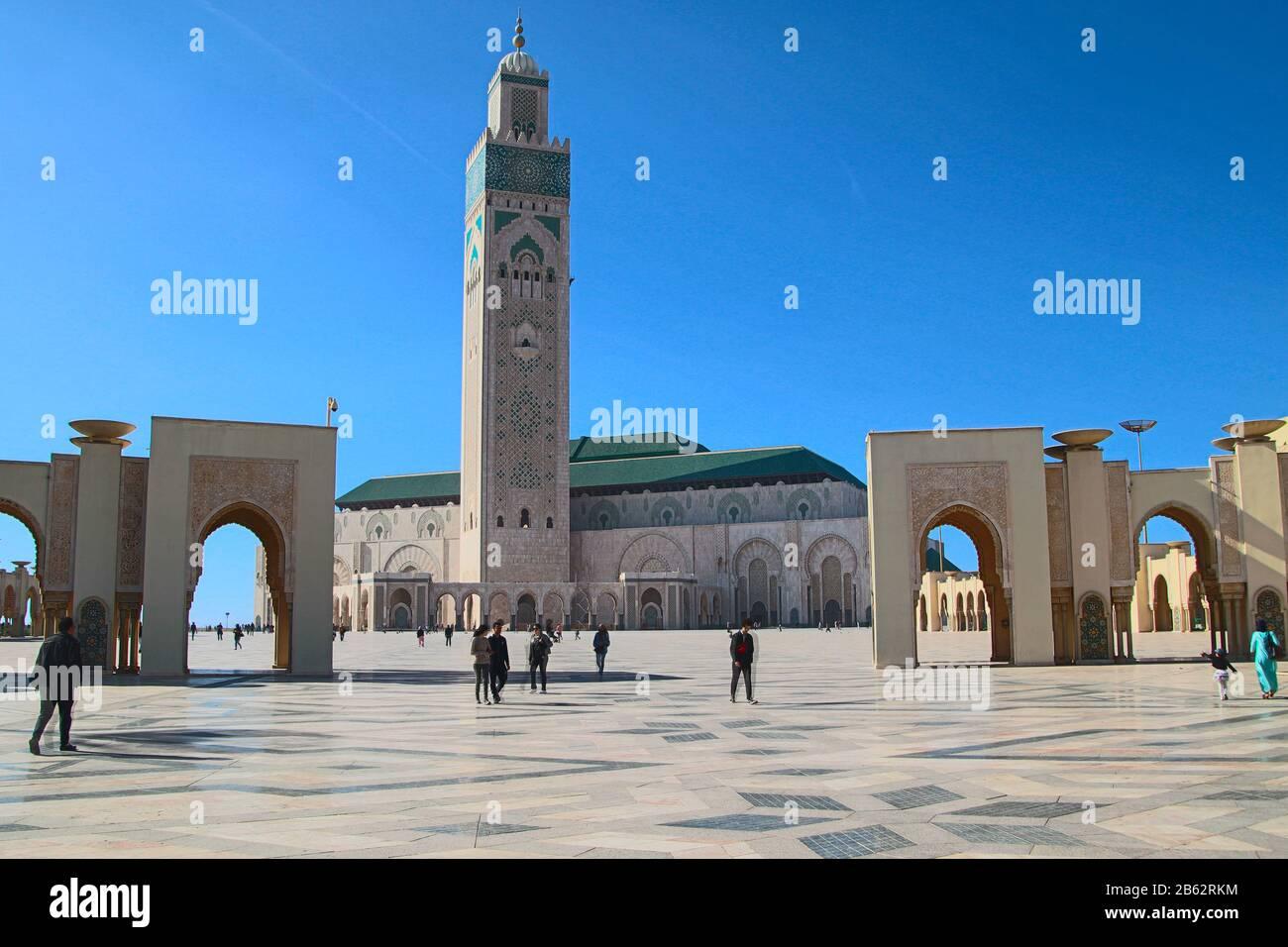 The beautifull. Hassan II Moschee, Casablanca, Marokko Stock Photo