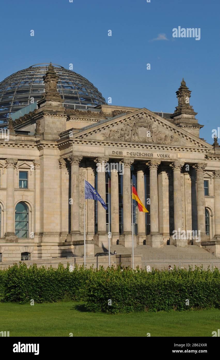 Reichstag, Tiergarten, Mitte, Berlin, Deutschland Stock Photo