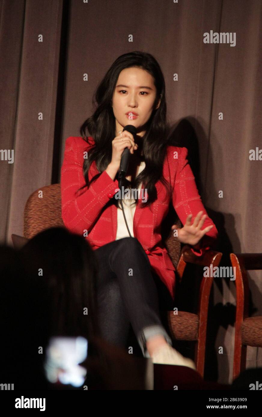 """Liu Yifei  03/07/2020 """"Mulan"""" Special Screening held at The Directors Guild of America Theatre in Los Angeles, CA Photo by Izumi Hasegawa / HollywoodNewsWire.net Stock Photo"""
