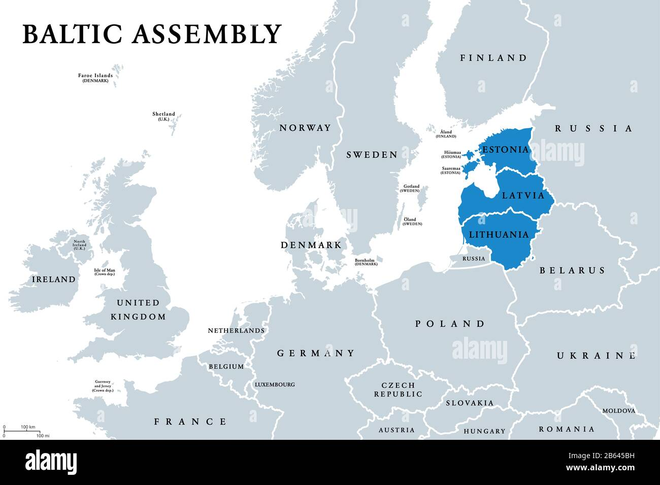 Image of: Baltic States Map High Resolution Stock Photography And Images Alamy