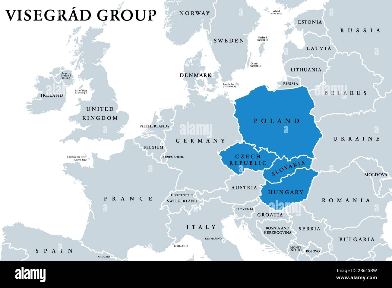 Picture of: Visegrad Group Member States Political Map Visegrad Four V4 Alliance Of Central European Countries Czech Republic Hungary Poland And Slovakia Stock Photo Alamy